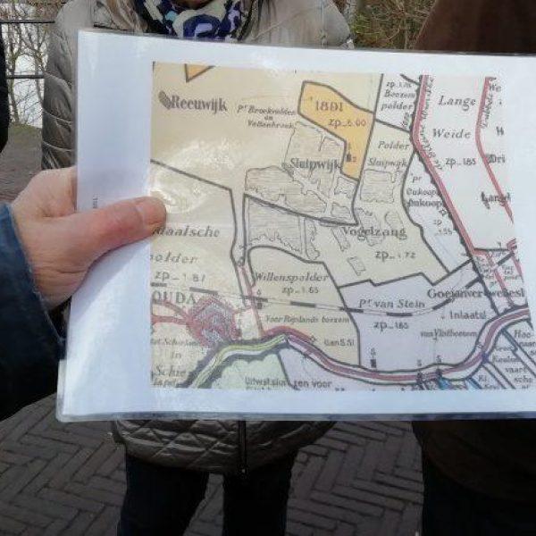 Polders reeuwijk en sluipwijk plattegrond